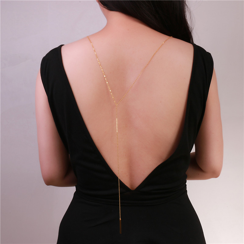 Buy simple back necklace front to for Back necklace for wedding dress