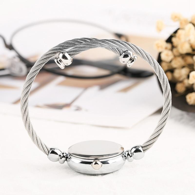 Unique Women Bracelet Watch Little Smooth Dial Top Luxury Silver Slim Strap Korean Retro Art Female Clock Quartz Watch Gift Hour 2018 2019 (40)