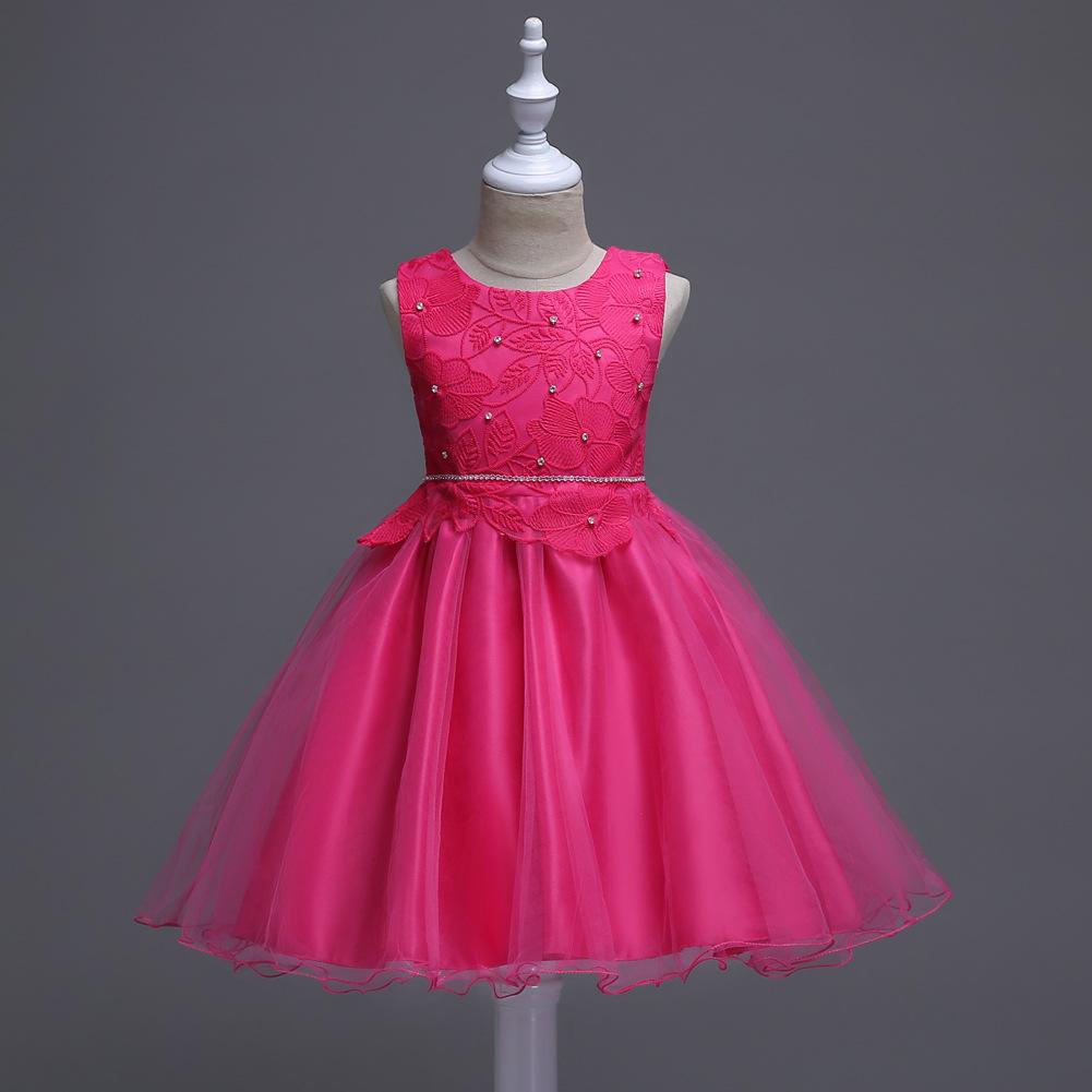 Vestidos Coreanos Cortos De Fiesta Para Niños De 3 Colores Ropa De Fiesta De Princesa De 3 A 10 Años De Moda Para Niñas Pequeñas Vestido De Ceremonia