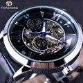 Forsining 2016 Tempo Espaço Série de Moda Esqueleto Mens Relógios Top Marca de Luxo Relógio Automático Masculino Relógio De Pulso Relógio Automático