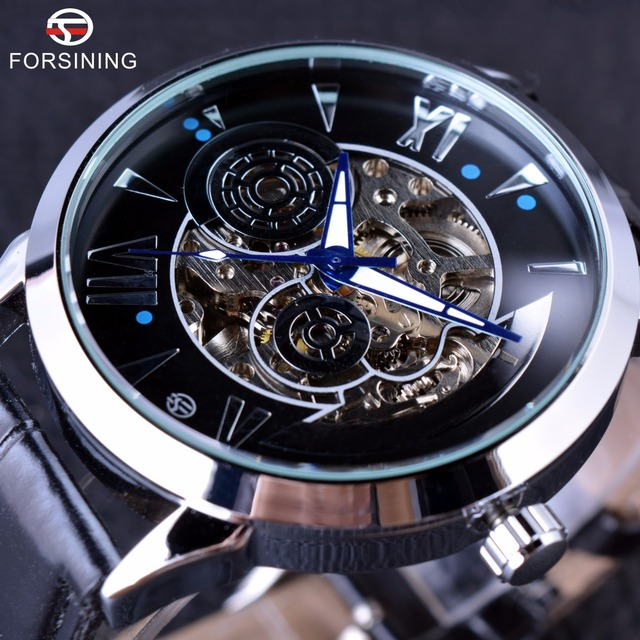 Forsining 2016 Time Space Fashion Series Skeleton Mens Watches Top Brand Luxury Clock Automatic Male Wrist Watch Automatic Watch