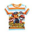 Frete grátis! Mais Novo de Manga Curta T-shirt dos desenhos animados Patrulha meninos camisa de t para meninas nova T-Shirt das crianças Roupa dos miúdos roupas