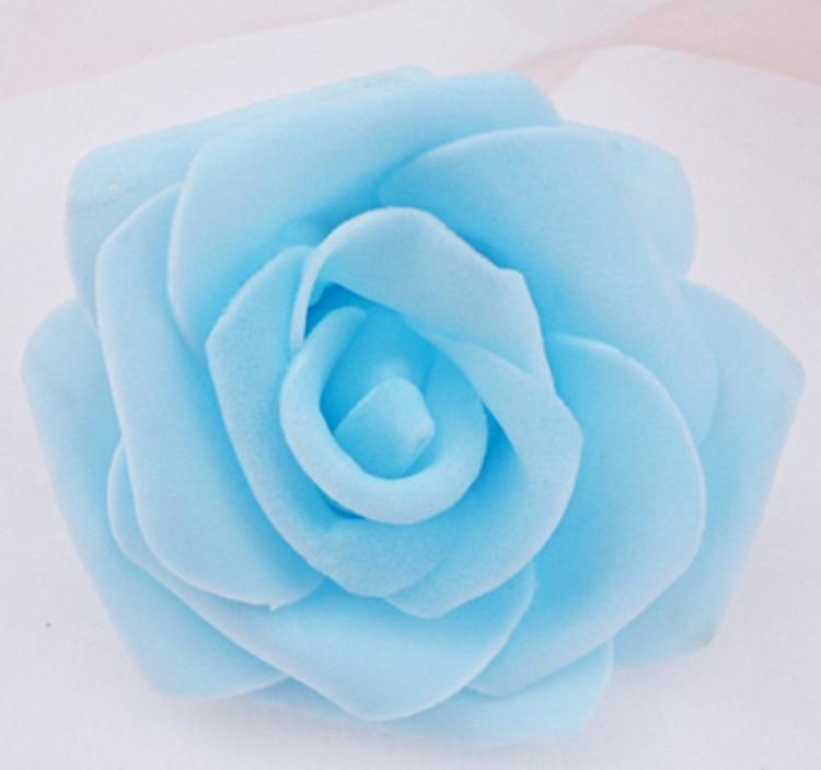 100 teile / los 6 cm Schaum Rose Köpfe Künstliche Blumenköpfe Mint - Partyartikel und Dekoration - Foto 6