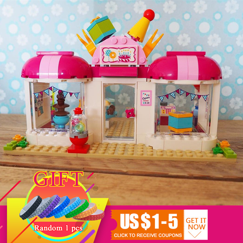 10557 181Pcs friend Heartlake Party Shop set building blocks Compatible with 41132 Girl Game Toys for children Gift ...