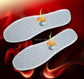 Hot!!!2 pair Tourmaline spontaneous hot/warm in the winter/far-infrared magnetic therapy insoles insoles Winter insoles