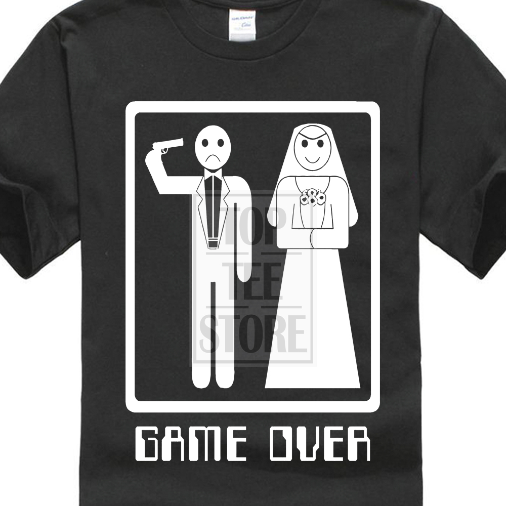 Tank Top Game Over T Shirt Funny Marriage Tee Wedding Bachelorette Party Bride