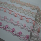 5Yards/lot 2.5cm wide Pink series wavy, floral Venise Lace Trim for Garment,Curtain Decorcation venise lace 2017101502