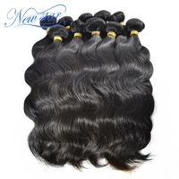 New Star Hair Peruvian Body Wave 10Pcs/lot Virgin Human Hair Extension Natural Color Bundles Hair Weaving Free Tangle