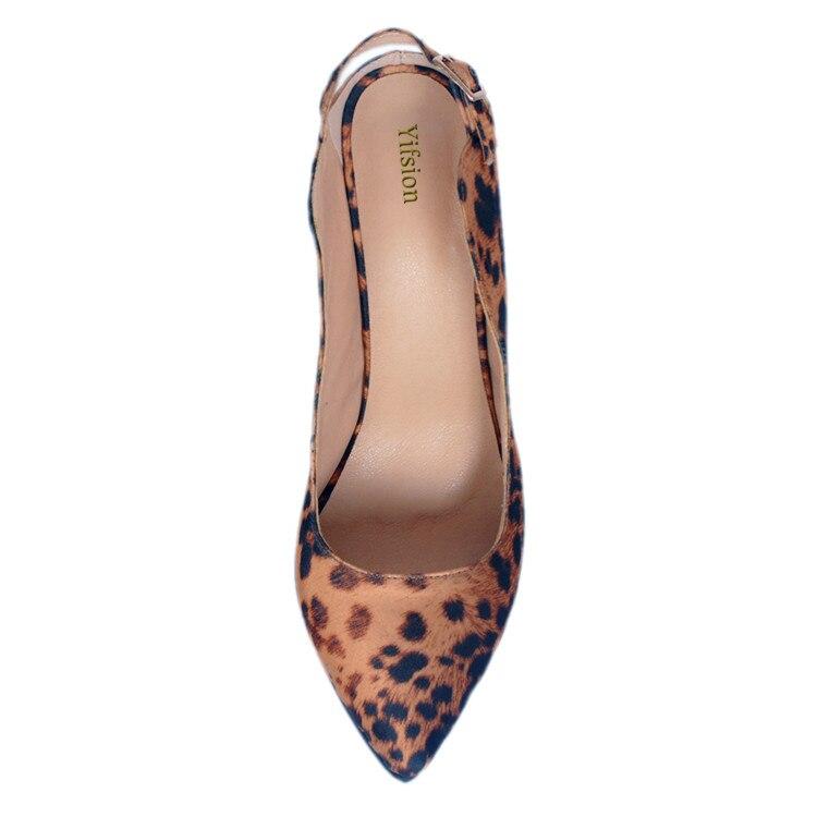5 Tamaño Punta Talones Yifsion Bombas Niza uu Mujer Altos Estrecha Leopard Del Sexy 15 Ee Partido Nuevas D0335 Mujeres Estilete Más Zapatos wX4gXqUHF