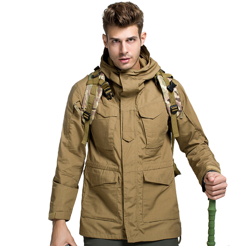 ESDY M65 Clothes Men Hiking Outdoor Climbing Softshell Windbreaker Tactical Jacket Hunting Tactical Trekking Men Coat Jacket