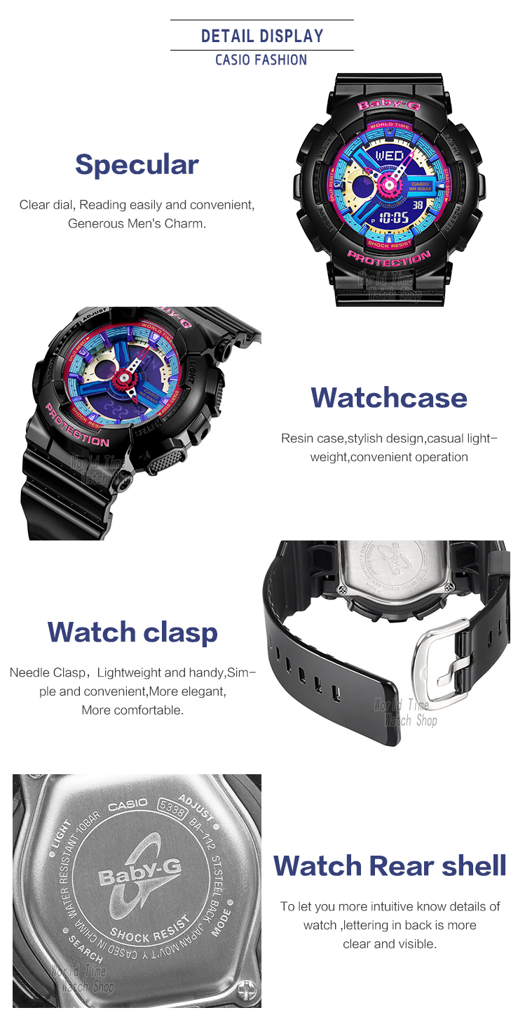Casio Watch Baby G Womens Quartz Sports Fashion Trend Cool Ba 112 7a The Quality Of Watches Produced By Assembly Areas In Each Country Is Samethis Shop Randomly