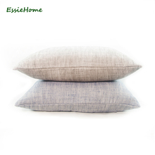 ESSIE HOME 8 Color Available Cotton Linen Cushion Cover Pillow Case Lumber for  Sofa