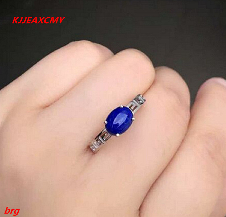 KJJEAXCMY Fine jewelry Fine 925 silver inlaid natural Afghan lapis lazuli female models ring kjjeaxcmy fine jewelry 925 sterling silver inlaid natural blue loose female ring ring