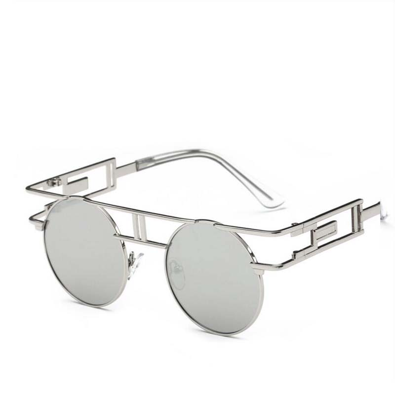 0df1a1594 2019 المرأة العلامة التجارية مصمم فريد الرجال القوطية النظارات الإطار  المعدني Steampunk من النظارات الشمسية خمر Oculos دي سول Feminino 12 اللون