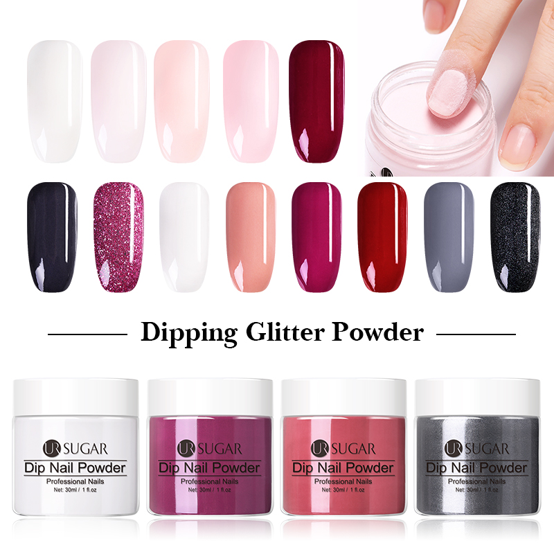 UR SUGAR Dipping French Powder Nail Glitter Pigment Gradient Nail Natural 30g Color Nail Art Decoration Dip Glitter