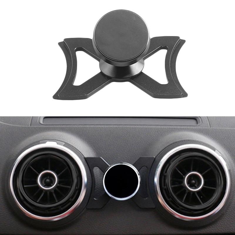 Suporte portátil do respiradouro de ar do carro para smartphone/audi a3 s3 gps do carro suporte rotativo de 360 graus para iphone android smartphone