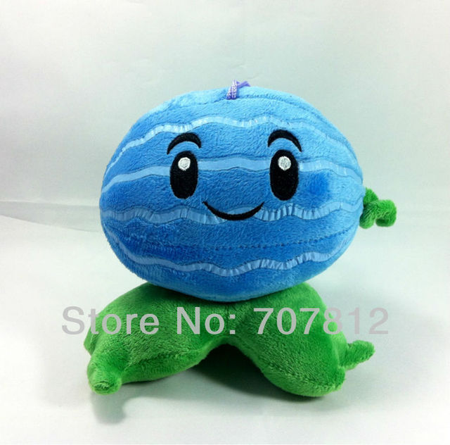 """Plants Vs Zombies toy  Plush Doll decorations soft stuffed toys Winter melon 5.5"""" cute plush  toys for children free shipping"""