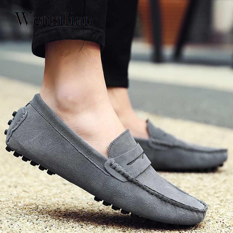Мужские лоферы на плоской подошве, Кожаные Мокасины, homme, весенняя обувь без шнуровки для вождения, официальная обувь, Sapato Masculino zapatillas hombre ...