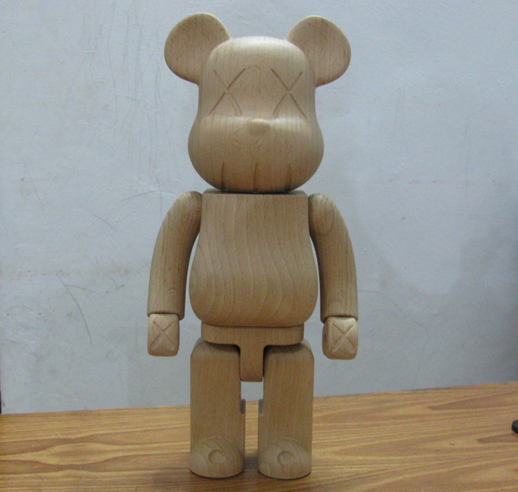 HOT Sale Beech Wood Kaws Bearbrick Be@rbrick MOMO bear 100%(7cm)/ 200%(14.5cm) /400%(28cm) hot selling oversize 1000% bearbrick luxury lady ch be rbrick medicom toy 52cm zy503
