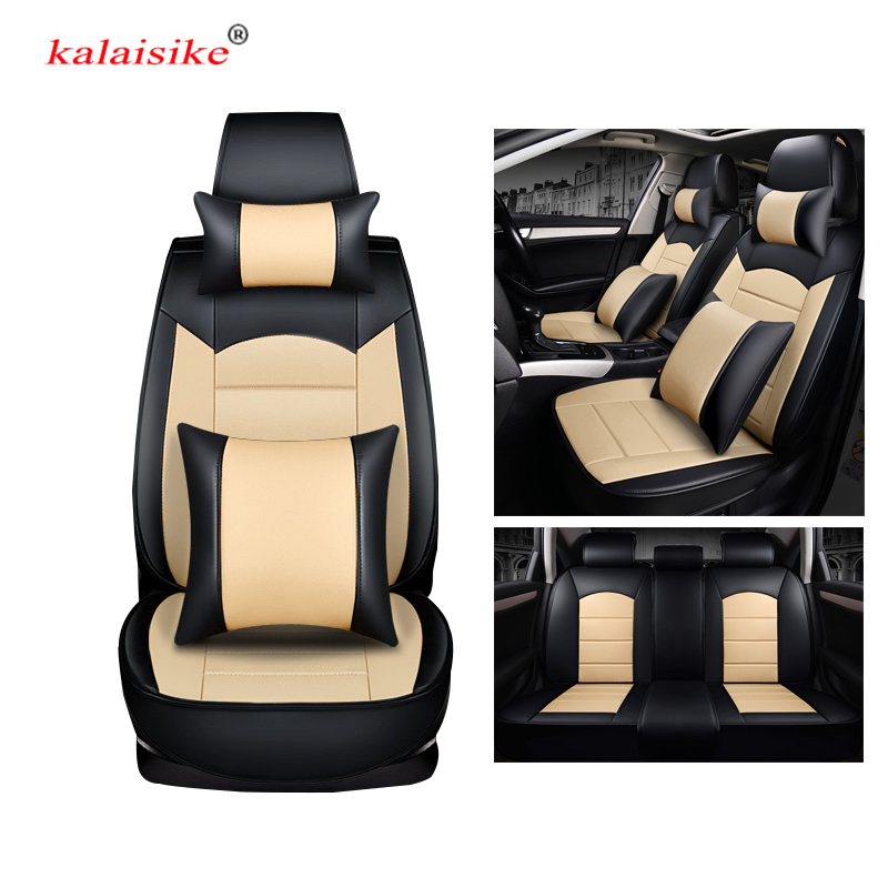 kalaisike leather universal car seat covers for Citroen all models c4 c5 c3 C6 Elysee Xsara C-Quatre Picasso car styling front rear universal car seat cover for citroen all models citroen all models c4 c5 c2 c3 ds drain auto accessories