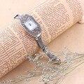 100% Стерлингового Серебра 925 Женские Часы Кварцевые Наручные Часы Thail Чистого Серебра Часы для Женщин Женский Браслет Часы