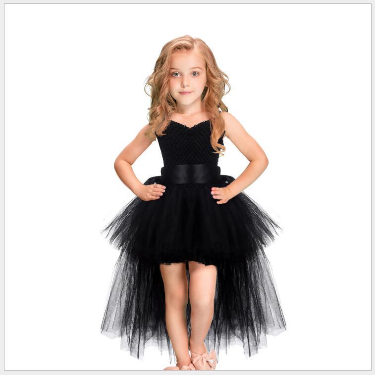 Halloween children girls black witch dress fancy kids ...