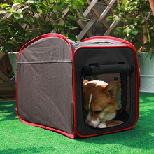 Removable Cat Dog Kennel Golden Retriever Large Dogs Washable Car Carrier Foldable Airline Approve