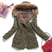 2016 New Winter Women Jacket Medium-long Thicken Plus Size Outwear Hooded Wadded Coat Slim Parka Cotton-padded Jacket Overcoat