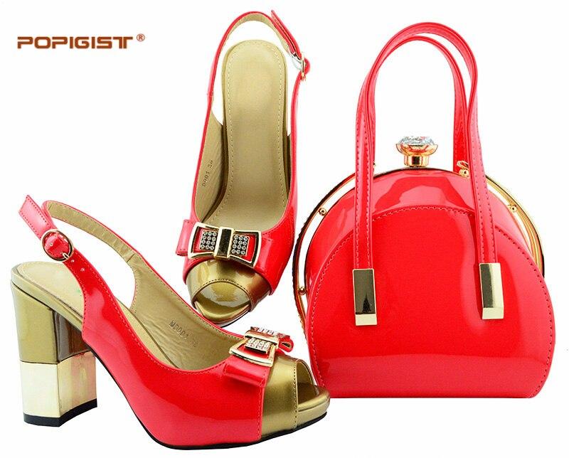 D silver Assorties En Sac Africain Femmes wine Chaussure Chaussures Parti Et Nigérien coral Corail blue Mis Couleur Italie Dans Ensembles t blue Italien nBnax