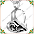 CMJ8216 fashion stainless steel silver ash cremation pendant jewelry cremation ash necklace heart jewellery