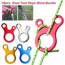 10 pcs/lot Outdoor Camping Tent Cord Rope Fastener Line Runner Carabiner Hook Hanger Tightener Buckle Accessories