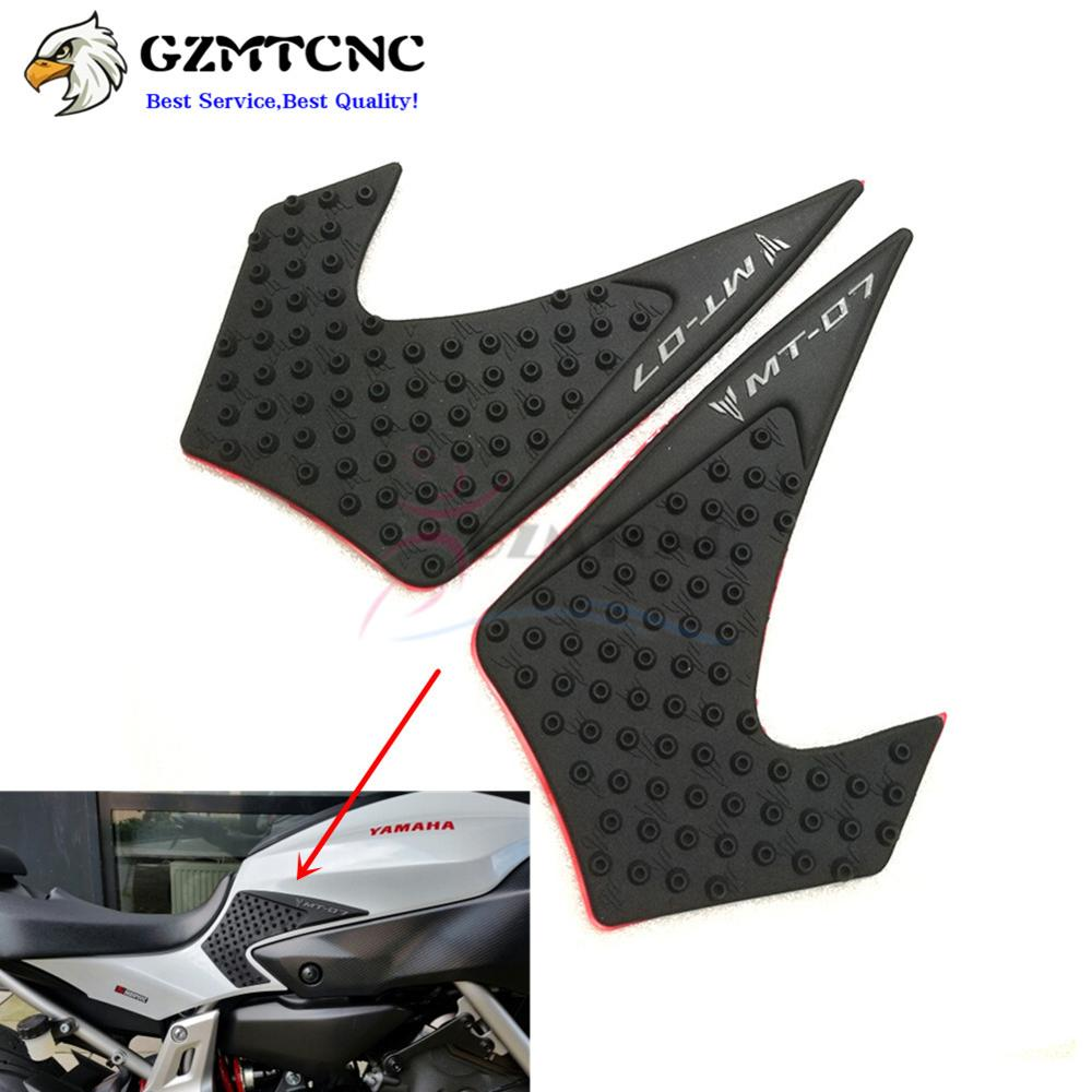 Decals & Stickers Mt07 Fairing Protector Anti Slip Tank Pad Sticker Gas Knee Grip Traction Side 3m Decal For Yamaha Mt-07 2013 2014 2015 2016 2017 Curing Cough And Facilitating Expectoration And Relieving Hoarseness