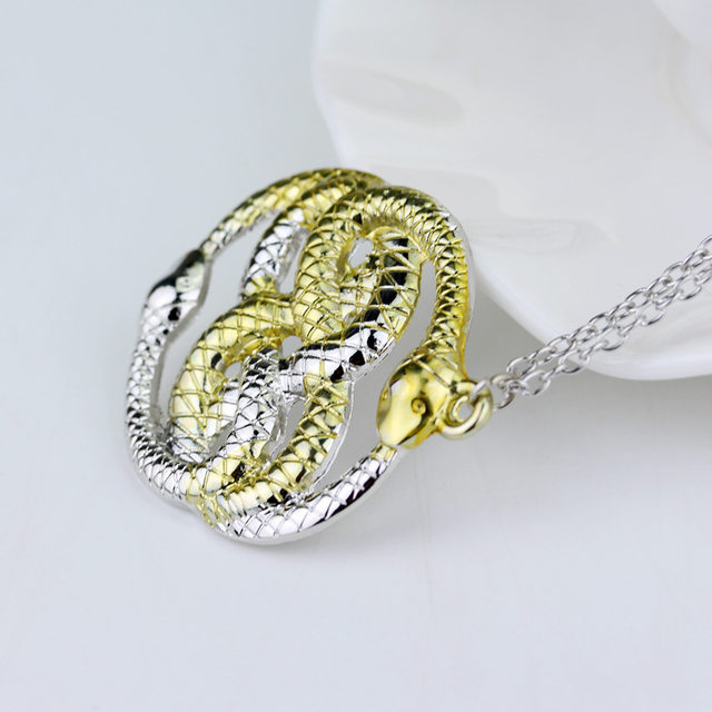 Online shop the never ending story two snakes auryn necklace the never ending story two snakes auryn necklace neverending story auryn amulet necklaces pendants mozeypictures Choice Image