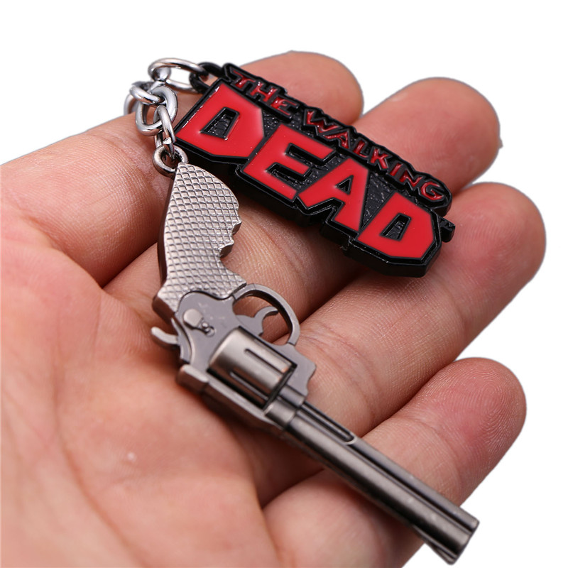 HSIC Promotion The Walking Dead Keychain Metal Alloy Key Ring Holder Fashion Chaveiro For Men Jewelry Birthday Gifts HC12226
