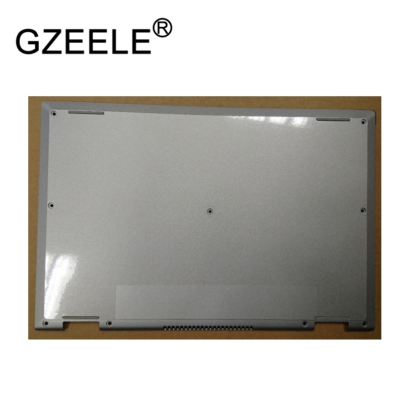 GZEELE NEW For Dell Inspiron 11 3147 3148 11 3147 Laptop Case Bottom base Assembly lower Cover D1WVJ 0D1WVJ Silver red F1GJJ