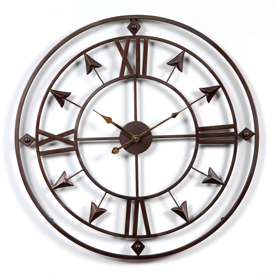 60cm24 inch 3D large wall clock vintage Vintage Style hollow out Household Bedroom Art Clocks Livingroom Wall home Decor 2020|Wall Clocks| |  - title=
