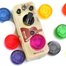 1 Piece Candy Color Electric Guitar Effect Pedal Mooer Candy Cover Cap Footswitch Topper Plastic Bumpers For Guitar Effect Pedal mooer micro di cabinet simulator compact guitar effect pedal
