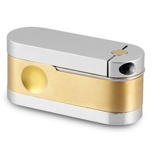 The Metro Pipe Twister Brass and Chrome Pocket Hand Gold Smoking Accessories Mini Cheap Free Shipping