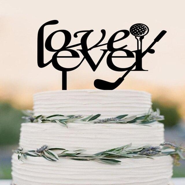 Aliexpress.com : Buy Love Ever Cake Topper Custom Golf themed Cake ...