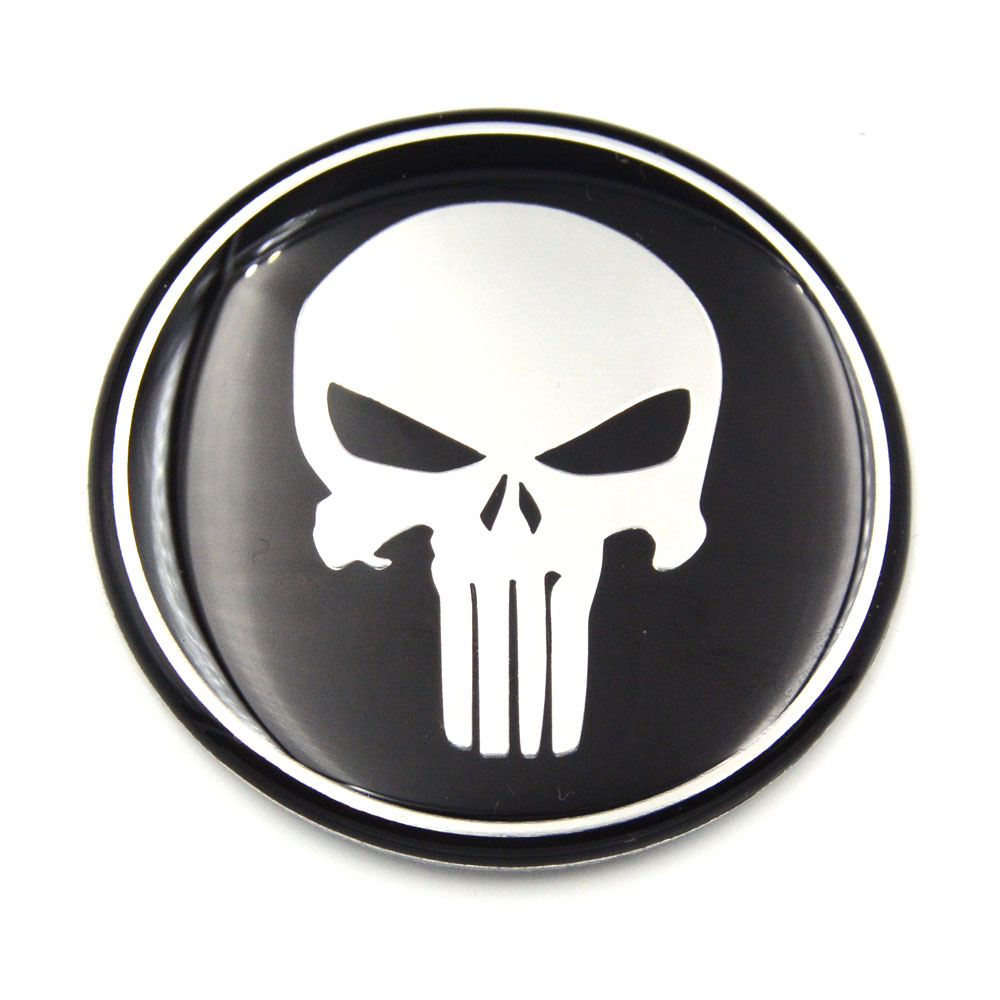 Gzhengtong cool punisher car steering tire wheel center car sticker hub cap emblem badge decals symbol for toyota in car stickers from automobiles