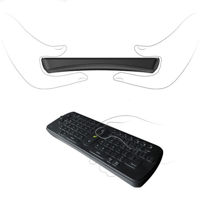Free Shipping High quality New Wireless Bluetooth 2.4GHz Gyroscope Fly Air Wireless Mini Keyboard Smart Remote Conrol Suppion