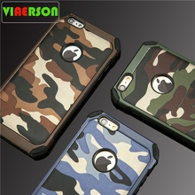 Armor protective PC Hard + Soft TPU phone cases for iPhone 4 4S 5 5S 6 6S 7 plus Camouflage Army Camo Pattern case back cover laser person pattern protective abs back case for iphone 5 5s transparent silver