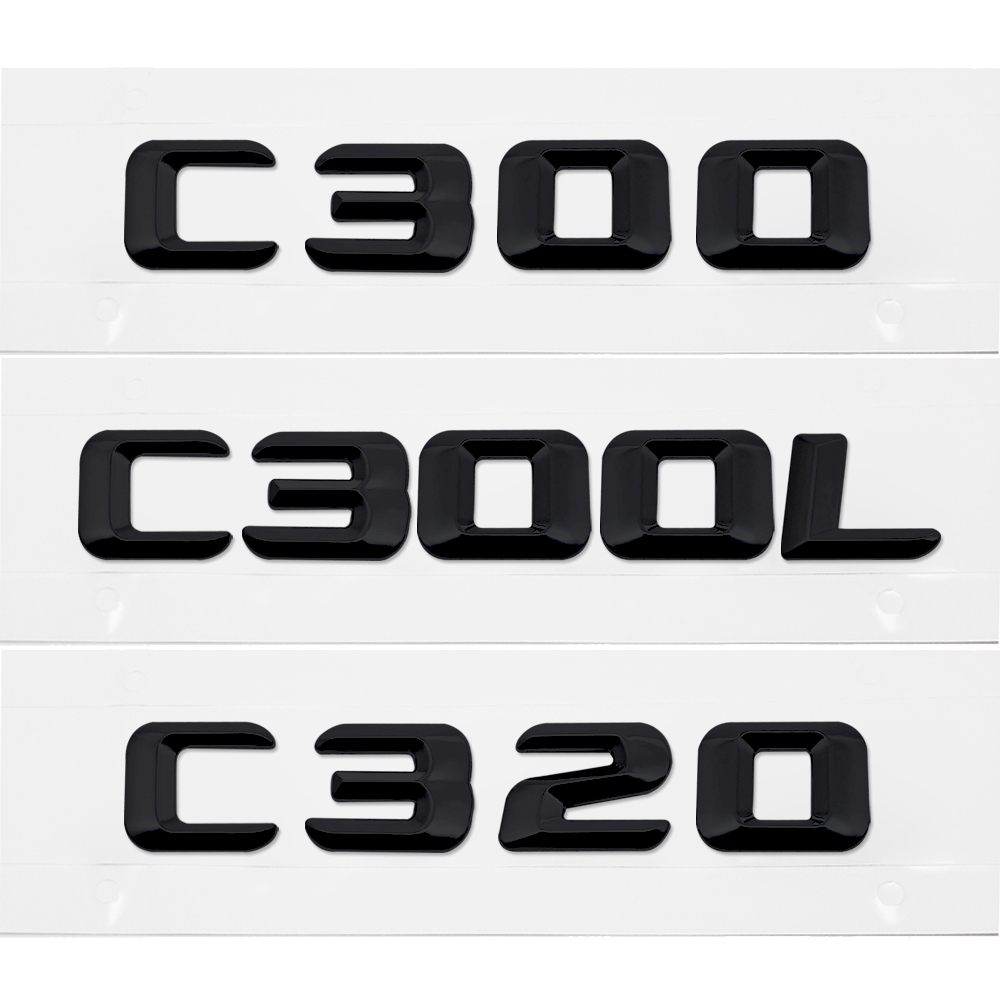 Car Rear Sticker Auto Styling Number Letter Emblem Badge For Mercedes Benz C Class <font><b>C300</b></font> C300L C320 W204 <font><b>W205</b></font> W210 W124 E320 G500 image