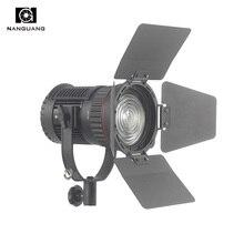 CN-30F 30 W LED Fresnel Holofotes Focalizável e Controle de Escurecimento Pode Ser Escurecido com 2.4G Sem Fio para Transmissão e Entrevista