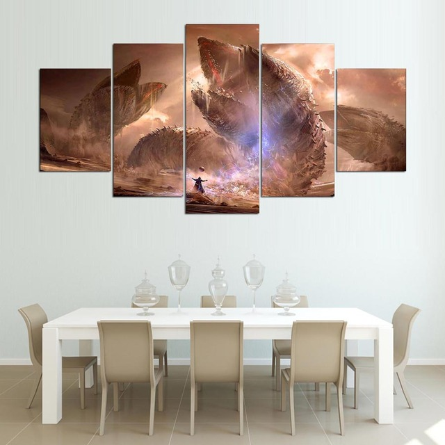 5 pieces canvas printed dune movie poster wall art modern canvas