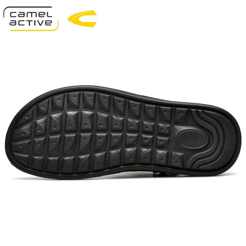 Macio Classic Sapatos marrom Camel Active Verão De Preto Sandálias New Confortáveis Genuíno Casuais Couro Chinelos Homens 2019 Respirável RBpPycqTZZ