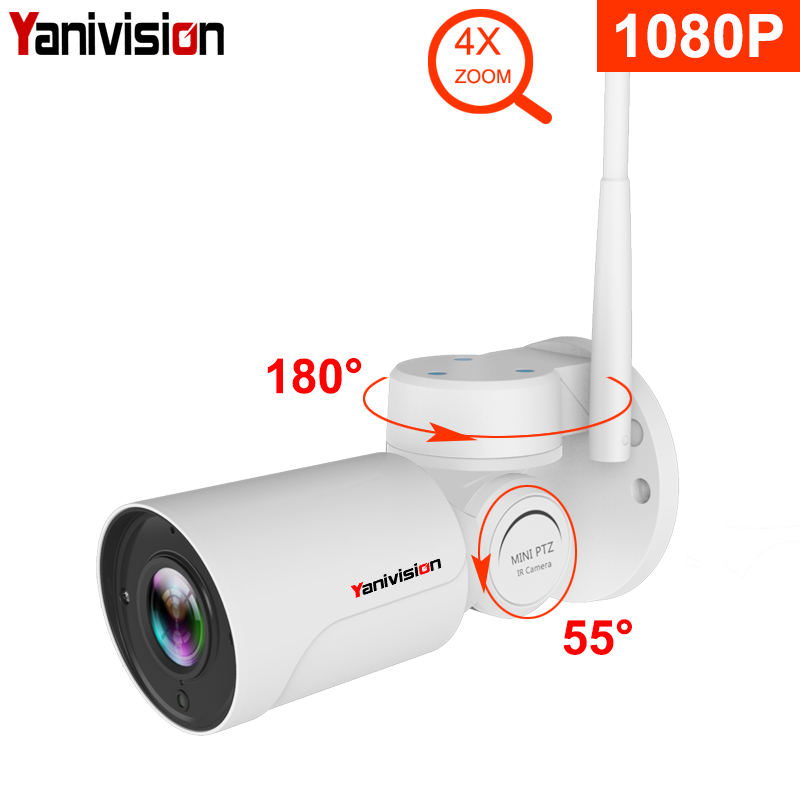 1080P IP PTZ Bullet Camera Full HD 4X Optical Zoom IP66 Waterproof Night Vision IP Camera Mini Outdoor WIFI PTZ P2P Surveillance