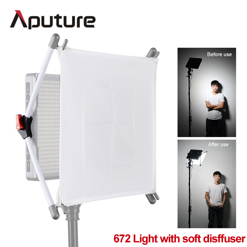 US $313 0 |Aputure Amaran HR672W with soft diffuser easy frost LED Camera  Video Light CRI95+ 672 Led Lamp Panel Brightness led flood light-in
