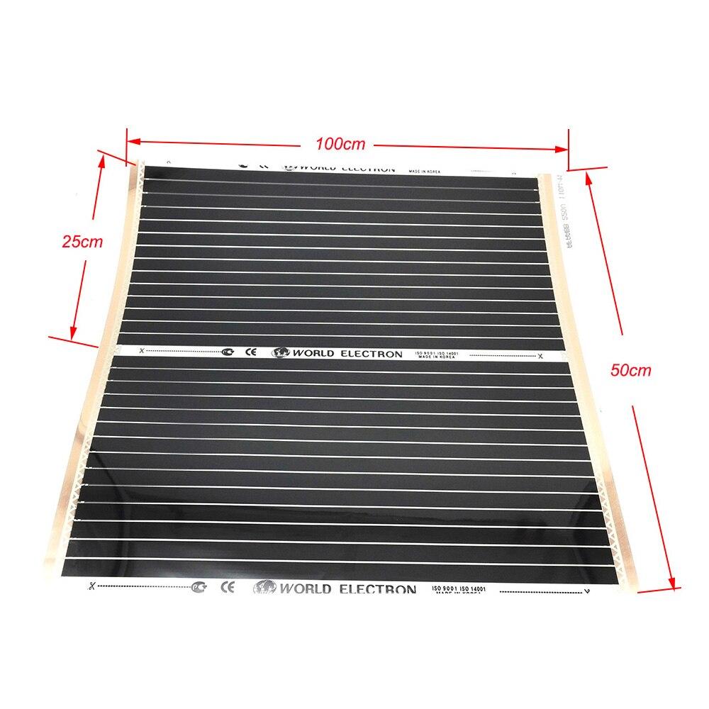 100cm X 25cm 100cm X 50cm Pets Warmth Heating Carpet Warm Floor Hot Film