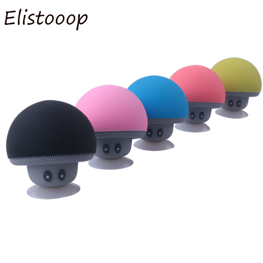 Elistooop Portable Mini Mushroom Wireless Bluetooth Speaker For iPhone